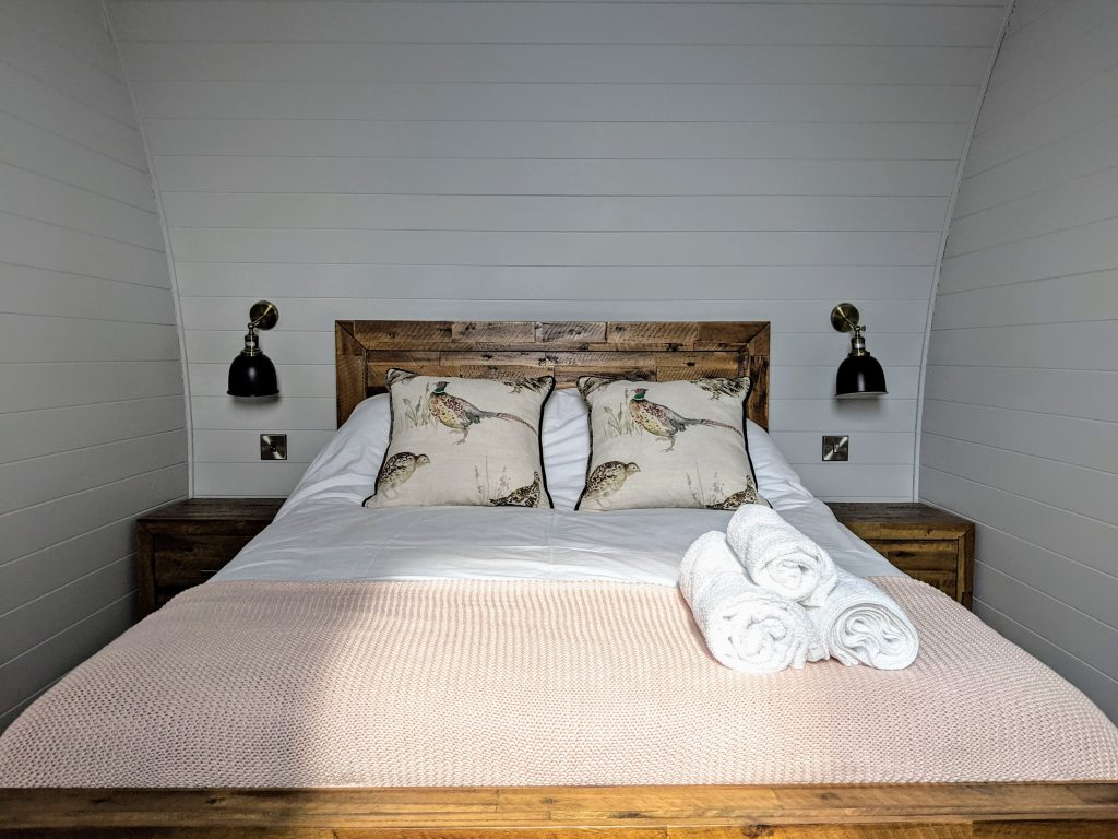 Double Bed White Pods
